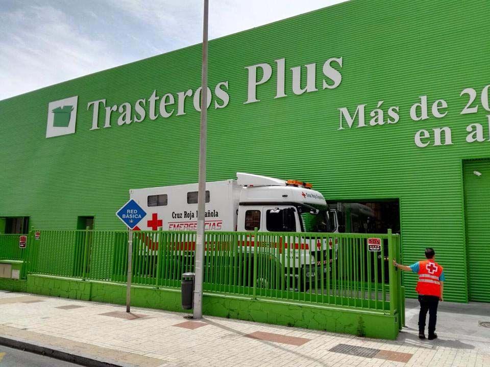 camión recogida alimentos cruz roja